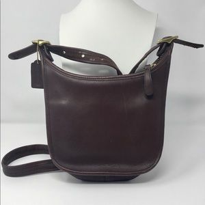 Coach Janis Brown Leather Legacy purse